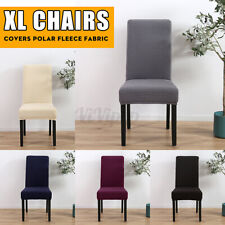 Home Dining Room Chair Stretch Slipcover Seat Protector Cover Fleece Fabric XL