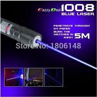 High Power 2000m 405nm Flashlight Violet Blue Laser Pointer/ UV Purple Lazer