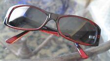 HUGO BOSS Unisex Rectangular - Black/Red Sunglasses