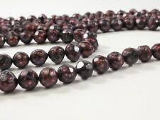 8-9mm Faceted Potato Freshwater Pearl Beads Dark Red OR Medium Champagne (#355)