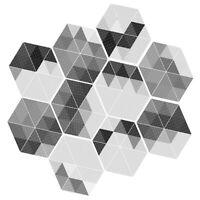 10x Self Adhesive Tile Art Floor Wall Decal Sticker Hexagonal DIY Bathroom