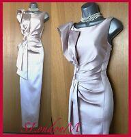 Karen Millen Pale Pink Origami Satin Long Maxi Ballgown Wedding Cocktail Dress