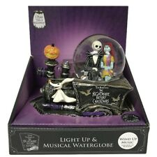 Nightmare Before Christmas Jack Sally Zero Musical Snow Globe Train 25th Anniver
