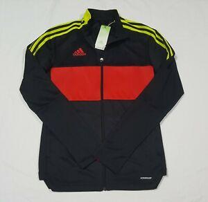 Adidas Mens Tiro Track Jacket Black / Vivid Red / Acid Yellow GN5546