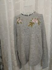 BNWT WAREHOUSE COSY MOLLY EMBROIDERED JUMPER SIZE 18