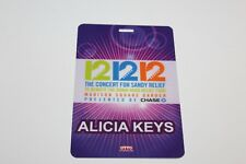 Alicia Keys - Laminated Backstage Pass - Sandy Relief Concert