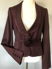 $3490***size 10 VALENTINO wool lined jacket rose belt dress tunic made in ITALY