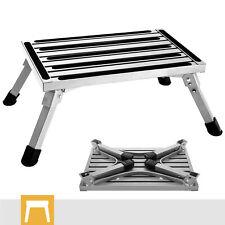 Folding RV Step Stool Aluminum Ladder Anti-Skid Platform Portable Camping Seat