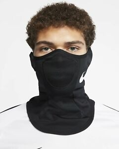 Nike Strike Snood Black Face Mask Scarf Winter Fleece Warmer Snow Ski Cover