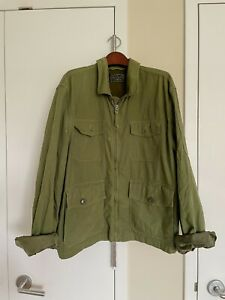 J.Crew Men's Green Military Jacket Size XL