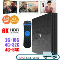 T9 Ultra Android 9.0 Quad Core 4GB RAM 64GB Storage 6K 2.4G/5G WIFI Smart TV Box