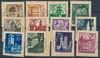 Lot Stamp Germany Poland General Gov't Mi 040-51 1940 WWII Buildings on Paper U