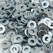 """1/4"""" Uss Flat Washers Zinc Plated Outside Diameter 3/4"""" Standard Steel"""