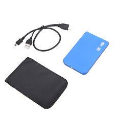 USB 2.0 SATA 2.5 inch External HD HDD Hard Drive Disk Enclosure Case Box Blue