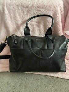Jem and Bea Jemima Changing Bag - black leather