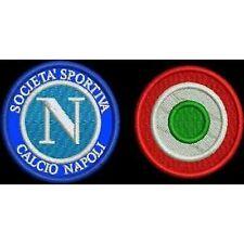 [Patch] NAPOLI + COCCARDA COPPA ITALIA toppa ricamata ricamo termoadesiva -178