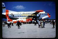 USAF Douglas C-124 Globemaster II in Northern Iowa in 1961, Original Slide e20b