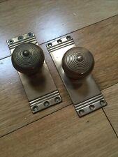 More details for antique reclaimed brass door knobs