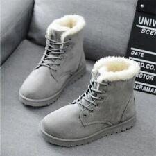 2020 Women Winter Snow Boots Warm Flat Plus Size Platform Lace Up Ladies Women