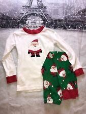 Saras Prints Santa Claus Christmas Pajamas 2 Piece Set Size 7 Red White Green