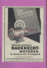 STUTTGART, Werbung 1936, G. Bauknecht Motoren