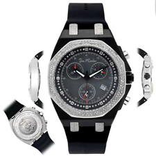 Men's Diamond Watch Joe Rodeo Panama JPAM5 2.15 Ct Octagon Black Dial