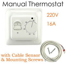 New Electronics Manual Thermostat Heating Switch with Floor Sensor AC 220V 16A