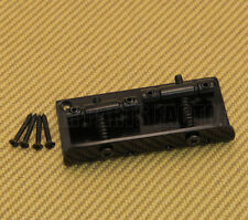 BB-00TB-003 Black 2-Saddle 4-String Bass Bridge w/Mounting Screws 18mm SS