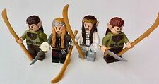 ALL LEGO PARTS - 4 x ELF minifigures - MIDDLEARTH - lord of the rings A