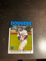 Mookie Betts 2021 Topps Series 1 One 1986 Insert Los Angeles Dodgers #86B-13