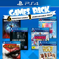NEW PS4 6 Games Pack Sony Playstation 4 Game PS God of War Singstar Matterfall