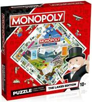 Winning Moves The Lakes Monopoly Jigsaw Puzzle Fun Children 1000 Pieces