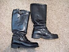 """VG Used Size 10 USA Chippewa No. 71418 17"""" Steel Toe Trooper Motorcycle Boot !"""