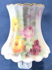 "Night Light ""Rose Garden"" porcelain lamp shade design home decor"