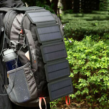 Outdoor Sun Energy Solar Panel Removable Folding Mobile Phone Charger Power Bank