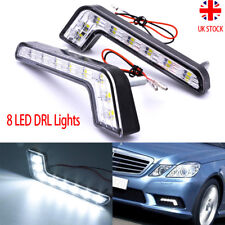 2X Cree 8 LED Car DRL Daytime Running Lights White For Mercedes Benz E Class UK