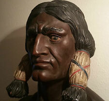 SITTING BULL cigar store indian statue nyc folk art sculpture antique tobacco