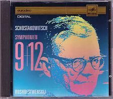 """Guennadi Rozhdestvensky: Shostakovich Symphony 9 & 12"""" 1917"""" CD Chostakovitch"""