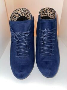 Simply Be - Navy Ankle Boots - Size 7 EEE