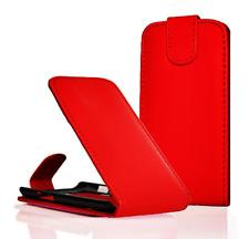 Housse Etui Coque Luxe (ROUGE) ~ Sony Ericsson Xperia X8 (E15i)
