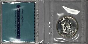 1954 Franklin Half Dollar 50c Gem Proof in Rare David Hall Flip Pre-PCGS Era