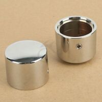 Chrome Front Axle Nut Cover Bolt For HD Harley Touring Road King Glide Softail