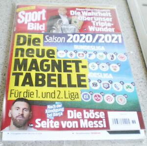 SPORT BILD-SONDERHEFT SAISON 2020/2021-mit MAGNETTABELLE der 1.und 2.Bundesliga-