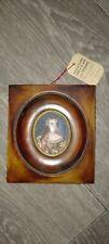 Miniature peinte à la main sur ivoire. HENRIETTE DE FRANCE SIGNE A.JOUENNE.