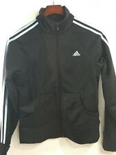 Adidas Climalite Knit Track Running Top Zipper HipHop Jacket (Oil Black, M)
