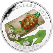 2015 Canada $20 - Murano Venetian Glass - Broadleaf Arrowhead Turtle - Silver/Ag