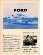 1961 FORD GALAXIE / FAIRLANE  ~  ORIGINAL 2-PAGE NEW CAR PREVIEW ARTICLE / AD