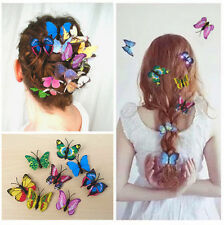 Butterfly Hair Clips 10 Mixed Imitation 3D Festival Party Take That Concert