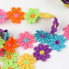 12/24 Pc Guipure Daisy Sew On Fabric Motif Flower Embellishments Applique Patch