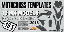 16 Motocross templates vector graphics KTM Kawasaki Yamaha Suzuki -2018